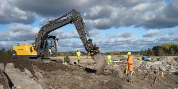 Arkeologisk utgrävning inför ombyggnad av Väg 288