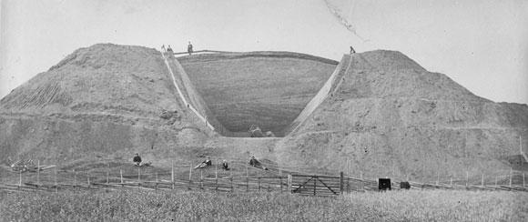 Uppsala högar - utgrävningen 1874