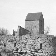Visby medeltida ringmur, 1928. Bilden är beskuren.