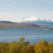 Laponia - ett av de 15 svenska världsarven. I fonden ses Akkamassivet.