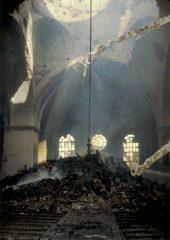 Katarina kyrka efter branden 1990