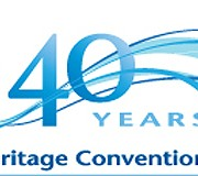 Logo för Världsarvskonventionen 40 år