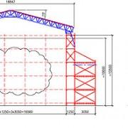 Del av ritningen över väderskyddet för ringmuren