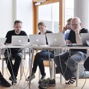 Arkhack på Riksantikvarieämbetet i Visby.