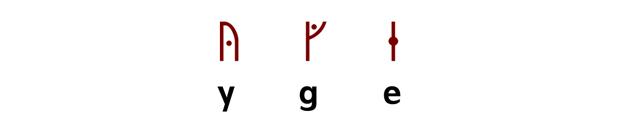 Stungna runor vikingatid centrerad