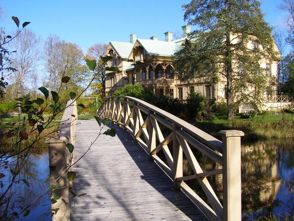 Långvinds Herrgård, Herrgården, bron till ön