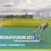 Landskapsforum 2013