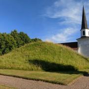 Kung Ranes hög (RAÄ nr Flistad 12:1). Källa: Wikimedia Commons. Fotograf: Gunnar Creutz