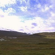 Område med stalotomter. Laponia
