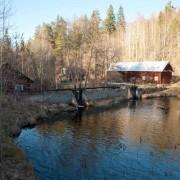 Strömsborgs vattenkvarn. Ursprungliga kvarnen byggdes på 1870-talet men eldhärjades 1881. Kvarnen återuppbyggdes på andra Stenån 1883.