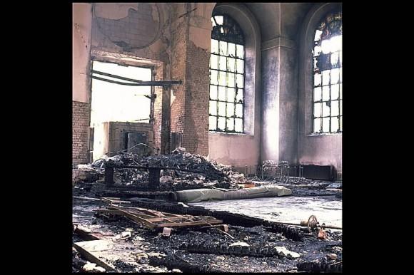 Katarina kyrka i Stockholm efter branden 1990