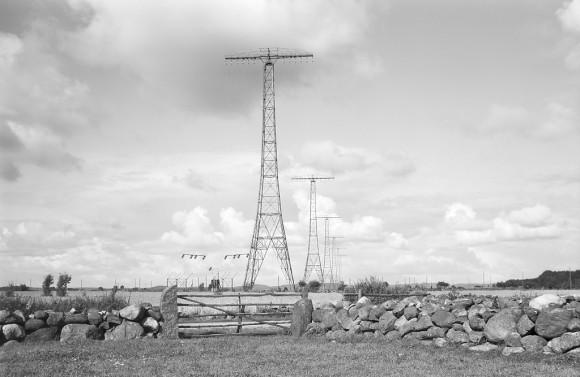 Radiomaster vid Varbergs radiostation i Grimeton, som idag är ett världsarv på UNESCO:s världsarvslista.