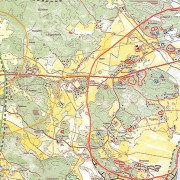Gillberga, Eskilstuna kommun. Riksintresset Gillberga D9 ingringat i rött