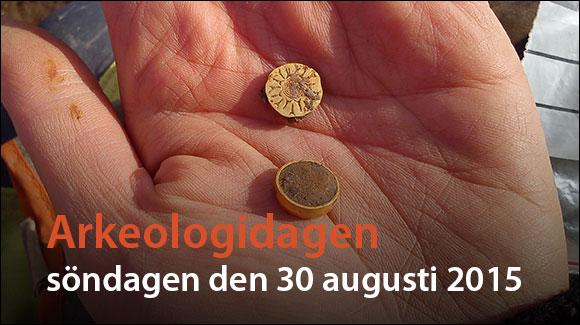 Temabild Arkeologidagen 2015. Bilden visar fynd från UV:s utgrävning i ESS-området i Lund.