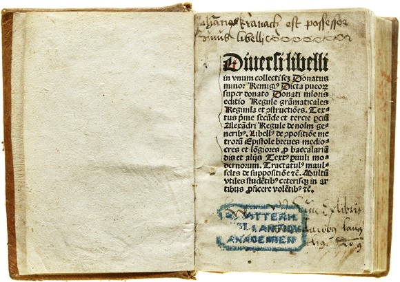Bibliotekets äldsta bok
