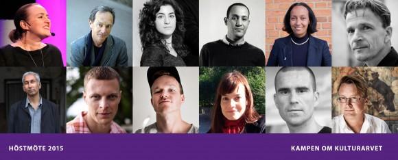 Några av årets alla talare på Höstmöte 10-12 november med temat Kampen om Kulturarvet.