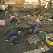 Arkeologisk utgrävning.
