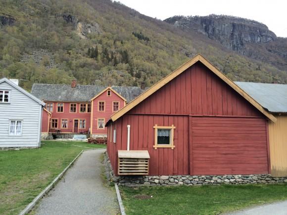 Luftvärmepump, Gamle Lærdalsøyri, Norge.