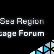 llusterad Konferenslogga för The 6th Baltic Sea Region Cultural Heritage Forum, 28-30 sep 2016. Detalj från Universitätskirche, Kiel.