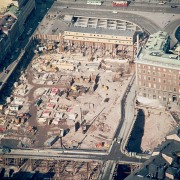 Byggarbete i Stockholm, 1969.
