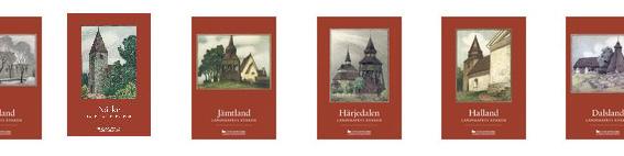 Omslag till flera delar av Lanskapets kyrkor