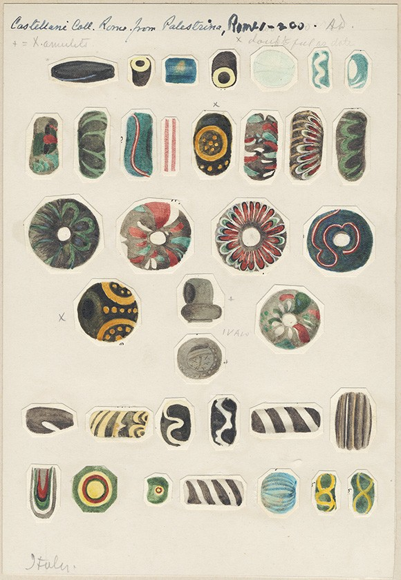Akvarell ur Gustav Eisens samling. Riksantikvarieämbetets arkiv/ATA