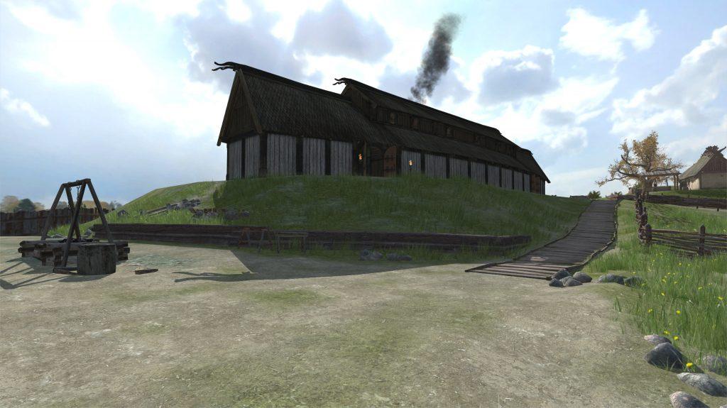 Stillbild från nya appen Augmented History: Gamla Uppsala, som finns tillgänglig för nedladdning från Appstore.