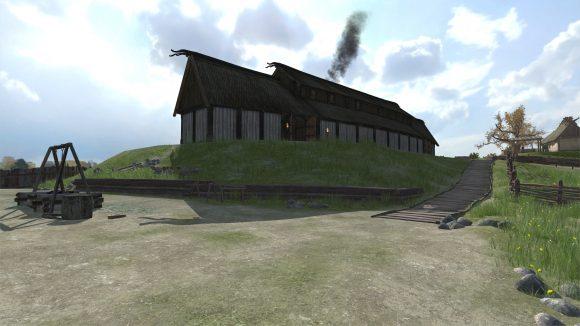 Stillbild från nya appen Augmented History: Gamla Uppsala, som finns tillgänglig för nedladdnig från Appstore.