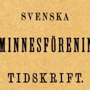 Logga Svenska fornminnesföreningens tidskrift