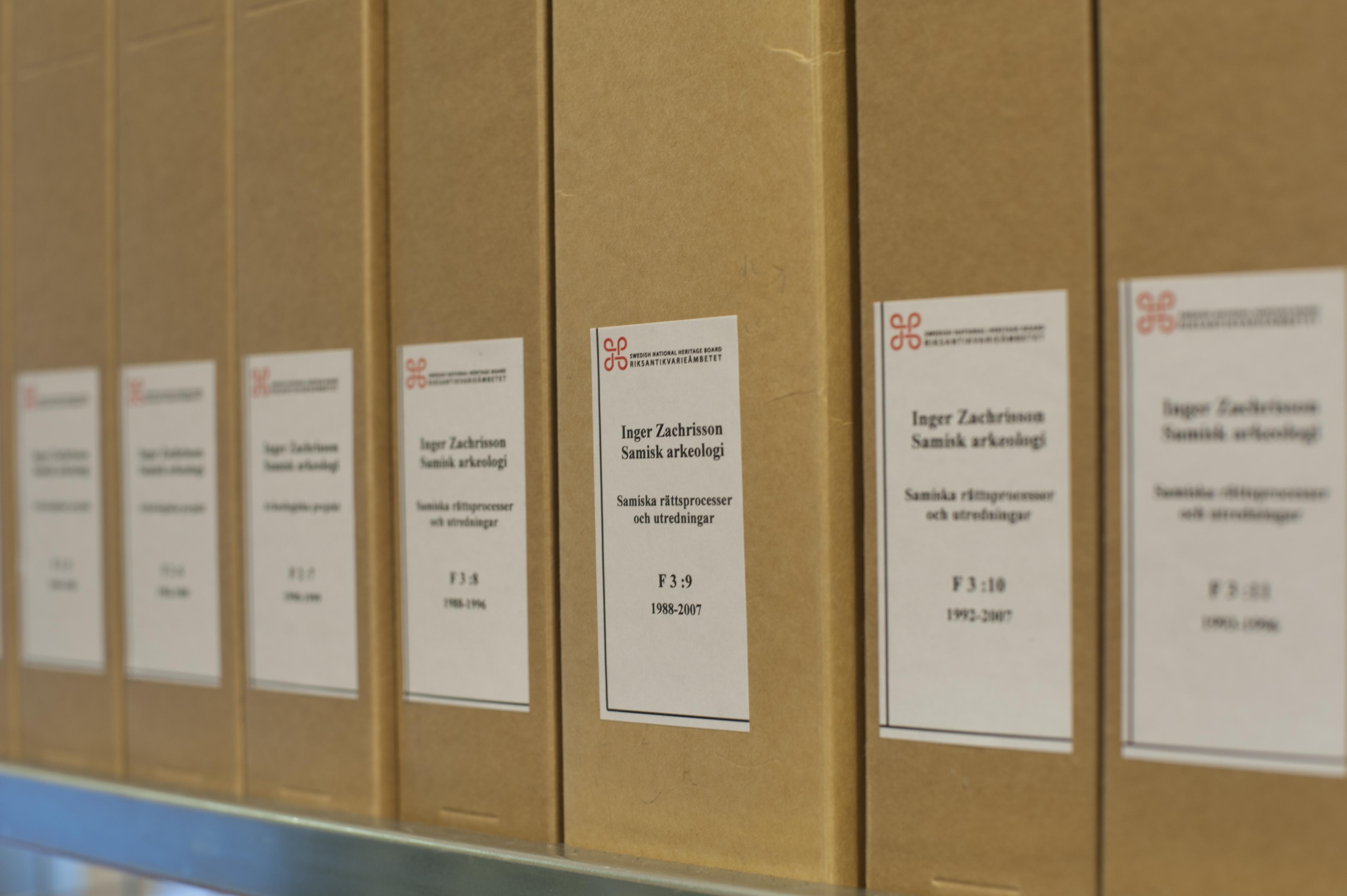 Inger Zachrissons arkiv i Riksantikvarieämbetets arkiv/ATA