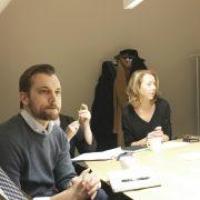 Fredrik Linder, kulturdeparementet, Per Olsson Fridh, statssekreterare hos kulturministern och Stina Westerberg, ordförande i Centralmuseernas samarbetsråd.