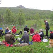 Fältbesök i kulturreservatet Atoklimpen, Västerbotten