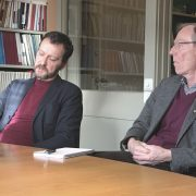 Jan Nordwall och Kjell Gustafsson från Sveriges hembygdsförbund.