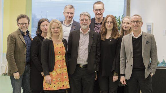 Representanter för Riksantikvarieämbetet och styrelsen för Sveriges museer träffades hos Riksantikvarieämbetet i Visby.