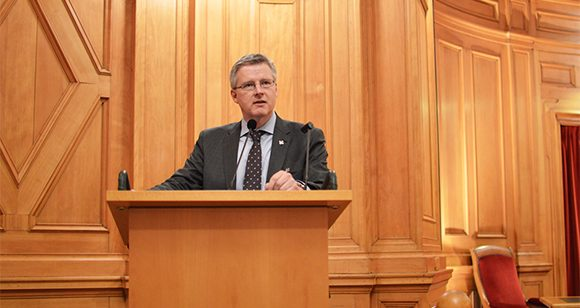 Lars Amréus talade om kulturarv och social sammanhållning under Rifos seminarium i riksdagen