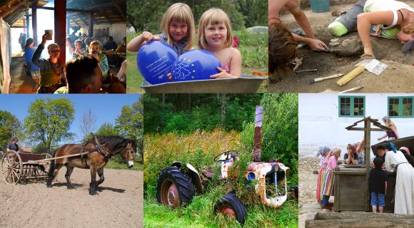 Bildkollage med barn och miljöer.