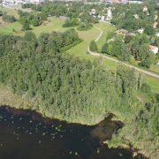På bilden ser du det en del av det område som vandringen kring Ekebysjön kommer att ske i under Kulturarvsdagen den 10 september.