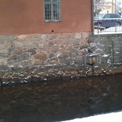 Inristade årtal i stengrund vid Faluå.