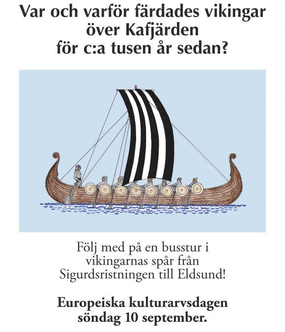 Vikingaffisch Kulturarvsdagen 2017