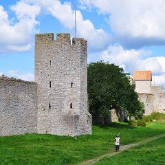 En bågskytt i Östergravar utanför Visby ringmur, Gotland.