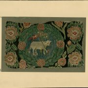 Hemslöjden får bidrag för att kunna fortsätta arbetet med att tillgängliggöra Zickermans studiesamling på Digitalt museum. Bilden föreställer en vagnsdyna ur samlingen, tillverkad i Blekinge i vävtekniken flamsk.
