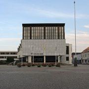 Nyköpings stadshus. Byggnaden blev byggnadsminnesförklarad 2012.