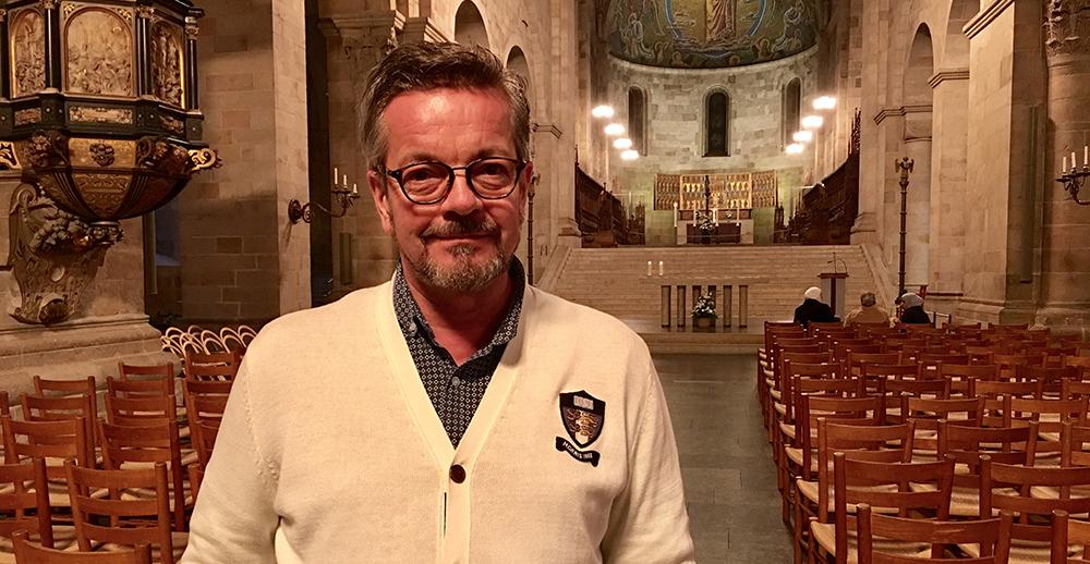 Stiftsantikvarie Heikki Ranta, på plats i Lunds domkyrka.