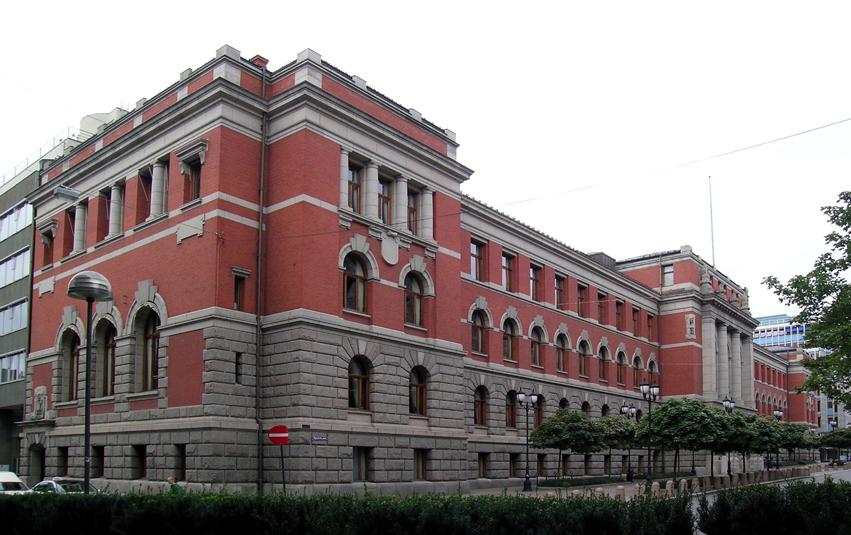 Bild från fasaden till Norges Högsta domstol.