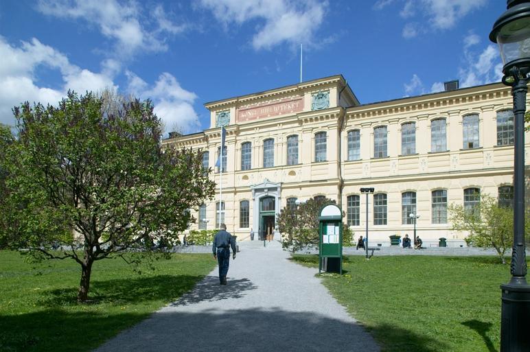 Exteriör på Kungliga bibliotekets framsida