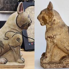 Replika av en 2500 år gammal katt.
