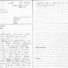 Anteckning från fornminnesinventeringen om en stenåldersboplats i Jämtland som år 1973 registrerades på ett sådant sätt att den i dagens FMIS/Fornsök framstår som en ej skyddad lämning.