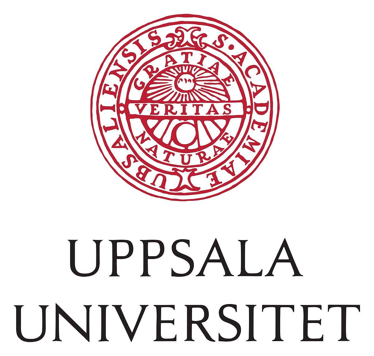 Rött sigill och text Uppsala Universitet
