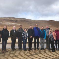 Nordiska riksantikvarier vid Námaskarð, varma källor.