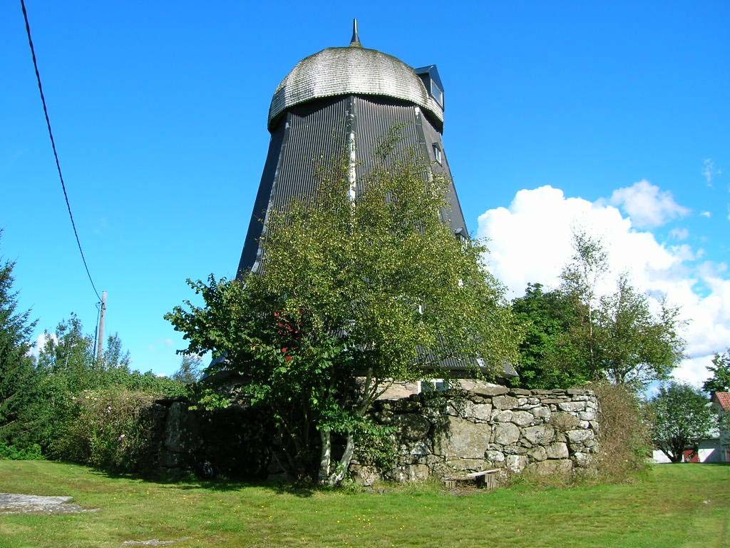 Kvarnen i Borekulla i Halland uppfördes omkring 1865.